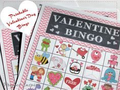 Printable Valentine's Day Bingo - includes bag toppers for goody bags