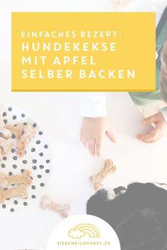 Rezept Hundekekse mit Apfel, Haferflocken & Honig: schnell und einfach gemacht (auch für Kinder!) ;)