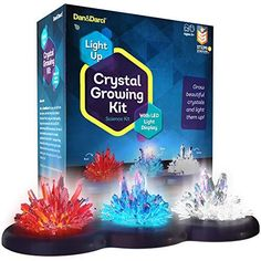Light-up Crystal Growing Kit for Kids - Grow Your Own Crystals and Make Them Glow : Best Science Experiments Gifts for Kids, Boys & Girls - STEM Toys - Crystal Making Science Kits - (Red White Blue) Grow Your Own Crystals, Growing Crystals, How To Make Crystals, Kits For Kids, Crafts For Kids, Christmas Gifts For Boys, Science Gifts, Cool Science Experiments, Stem Projects