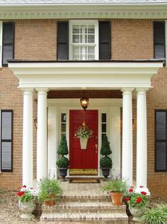 Front Stoop Makeover   Pottery Barn Christmas Garland Knock-off