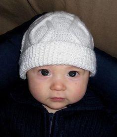 Baby Boys /& Girls Câble Tricoté deux Pompon Chapeau /& Moufles Lot 0-12 mois taille unique