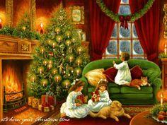 Victorian Christmas Images #christmastree #christmas