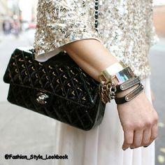 #Fashion #Style #glitter #black #bag #sling #slingbag #skirt #dress #outfit #look #like #instalike #instalook #accessories #top #blouse #ring #golden #silver #satchel #chanel #pose #selfie... - Celebrity Fashion