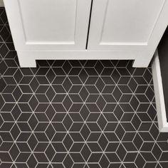 "EliteTile Retro Rhombus 1.88"" x 3.18"" Porcelain Mosaic Tile in Gray"