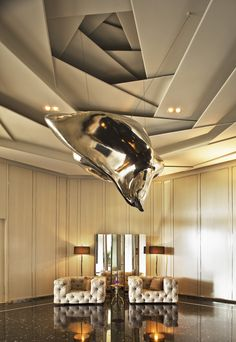 4 Sparkling Clever Tips: Contemporary False Ceiling Love false ceiling beams rustic.False Ceiling Living Room Luxury false ceiling ideas for restaurant. Lobby Design, Design Hotel, Foyer Design, Property Design, Design Bedroom, Decoration Faux Plafond, Faux Plafond Design, Architecture Details, Interior Architecture