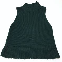 Sleeveless Sweater Hunter green Sweaters