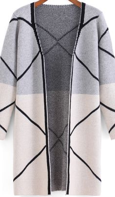 SheIn's light grey white long sleeve cardigan hits the spot.