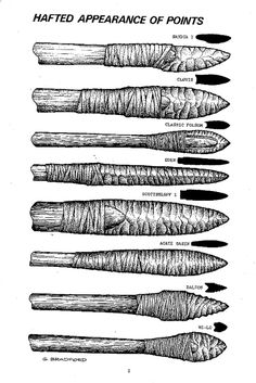The points made to penetrate large thick skins would need to have the lashings concealed (behind the mid-point, and inside flutes), to some extent, to allow for better penetration. Description from paleoplanet69529.yuku.com. I searched for this on bing.com/images