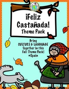 Incorporate this authentic regional celebration from Spain in your Spanish classroom with our Theme Pack and Printable Minibook-a great way to bring culture and language together! La Castañada is celebrated primarily in Cataluña and Barcelona, marking the harvest of chestnuts and other