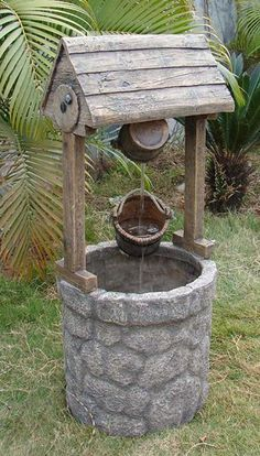 American Wishing Well Water  Fountain water flows from bucket to bucket how cool is this!