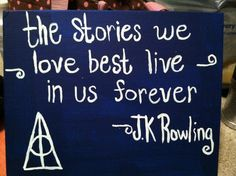 J.K Rowling quote canvas