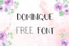 DLOLLEYS HELP: Dominique Free Font