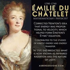 Today's #WomensHistoryMonth bio is Émilie du Châtelet! A fascinating mathematician. ift.tt/1B2Aa0w