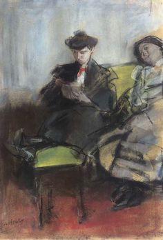 Isaac Israëls - Interieur met twee dames