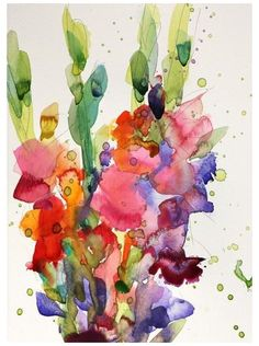 Gladiolus Original Watercolor Painting Angela Moulton is part of Watercolor painting Acuarela 10 x 7 inches with 14 x 11 inch mat Watercolor paint on Canson watercolor paper Mounted on white matbo - Watercolor Art Paintings, Watercolor Cards, Watercolor Print, Watercolor Flowers, Watercolours, Watercolor Artists, Floral Paintings, Indian Paintings, Oil Paintings
