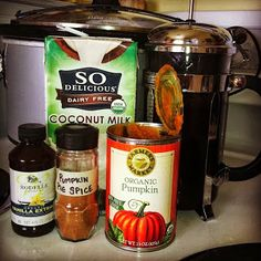 Healthy Pumpkin Spice Latte in the Crockpot! (paleo - no dairy or refined sugars) -the coffee = perfection!