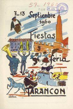Fiestas en Tarancón (Cuenca) en honor a la Virgen de Riánsares del 7 al 13 de septiembre de 1960 Pregón de fiestas a cargo de Antonio Rius  #Fiestaspopulares #Tarancon #Cuenca #AntonioRius