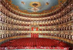 The Teatro La Fenice in Venice, Italy Toy Theatre, Music Theater, Theatre Architecture, Music Artwork, Opera Singers, Northern Italy, Concert Hall, Venice Italy, Milan Italy