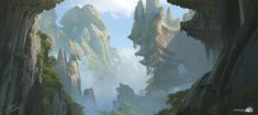 ArtStation - Sacred Mountains, Gabriel Yeganyan