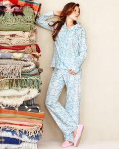 Green Cotton Knit Pajamas - Garnet Hill