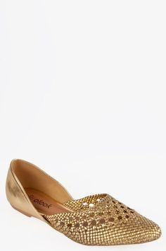 Sapatilha Tressê Mônaco Dourado - Roupas e Sapatos Femininos | Olook