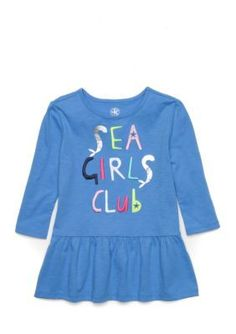 Crown & Ivy™ Sea Girls Club Tee Toddler Girls - Blue Sail - 3T