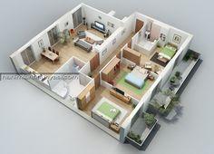 Teknolojinin Son Noktası 3D Tasarımlı Ev Planları (11)