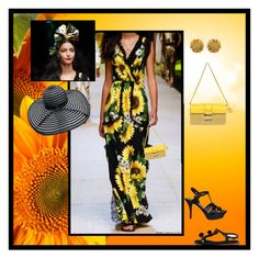 """""""Sunflowers & Dolce & Gabbana"""" by veronababy ❤ liked on Polyvore featuring Michael Kors, Dolce&Gabbana and Yves Saint Laurent"""