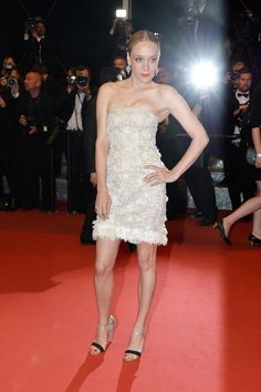 Chloë Sevigny Flaunted the Feathers on Her Chanel Minidress