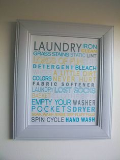 pinterest 365 day 229: subway art for the laundry ... a free printable from simple crafter!  perfect wall art for the laundry, don't you think!