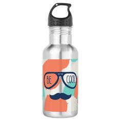 Be Cool Stainless Steel Water Bottle - home gifts ideas decor special unique custom individual customized individualized