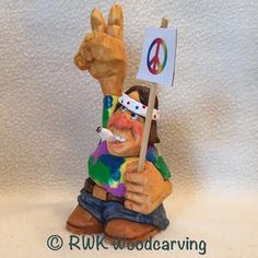 Hippie (Front) Carved by RWK Woodcarving.