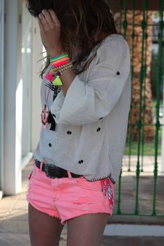 Too old for these shorts, but the top and accessories, love!