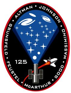 Shuttle Atlantis set for Hubble launch Monday Hubble Space Telescope, Space And Astronomy, Man Cave Ceiling Ideas, Space Patch, Nasa Patch, Nasa Missions, Space Projects, Space Program, Space Shuttle