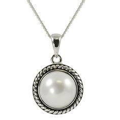 Pearls for You Sterling Silver Freshwater Pearl Necklace