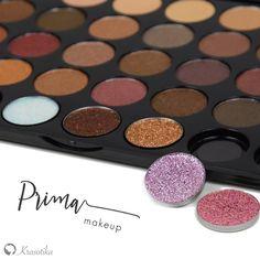 Úžasné paletky od novej značky Prima makeup <3 Majú perfektnú pigmentáciu, jemnú maslovú konzistenciu a navyše obsahujú 7 lisovaných glitrov