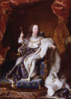 Portrait de Louis XV. 1715 Hyacinthe Rigaud, Palace of Versailles.