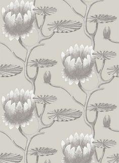 Summer Lily   Designtapete Von Cole U0026 Son   Taupe And White [1473.4].  BritischEnglischEsszimmerSchlafzimmerModerne ...