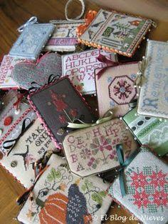 La colección de mi hija de pinkeeps punto de cruz cross stitch point de croix