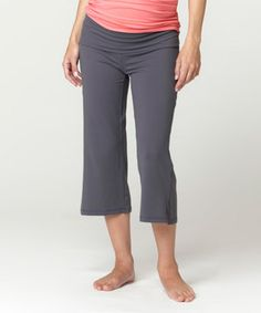 This Fit2Bmom Charcoal Under-Belly Maternity Capri Pants - Women by Fit2Bmom is perfect! #zulilyfinds