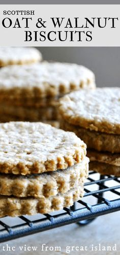 Scottish Oat and Walnut Biscuits ~ these little oatcakes make the perfect homemade crackers for all kinds of cheese. #crackers #homemade #crackers #biscuits #scottish #recipe #wholegrain #easy #appetizer