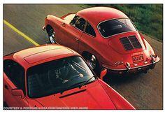 Next generation, print campaign 1980: Porsche 356 vs. Porsche 911 SC --- nice and rare