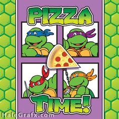 FREE Printable Retro Ninja Turtle Pizza Box Cover