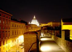 "An idea to spend a night in Rome? Visit the famous ""Passetto di Borgo"" or ""er Corridore"" (the corridor) – the fortified and elevated passage on the Mura Vaticane (Vatican walls), linking the Vatican to Castel Sant'Angelo – is open to visitors.   A #nightinrome #mysecretrome #hiddenrome #romasegreta #summerinrome #estareromana #myclassicrome #rome #roma #justinrome"