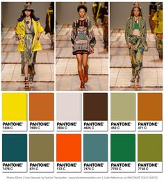 Cool Etro Spring/Summer 2017 Collection Color Codes 1... färger Check more at http://fashionie.top/pin/36461/