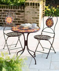 Loving this Stained Glass Bistro Furniture Set on #zulily! #zulilyfinds