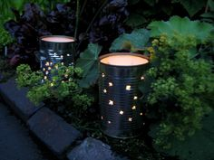 Upcycle your tin cans into gorgeous garden candle lights
