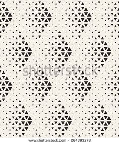 Vector seamless pattern. Modern stylish texture. Repeating geometric tiles with dotted triangles. Regular hipster background. Small triangles form halftone rhombuses. Contemporary simple ornament