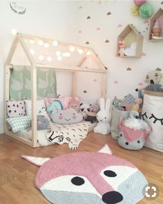 15 Adorable Toddler Girl Bedroom Ideas On A Budget #toddlerbedroom # Bedroomideas #kidsbedroom #cutebedroom