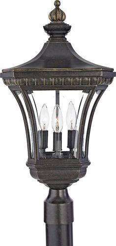 Quoizel DE9256IB Devon 3 Light 23 Inch Imperial Bronze Outdoor Post Lantern